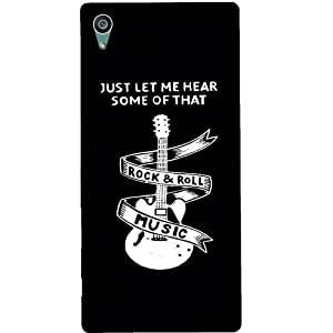 Casotec Rock And Roll Design Hard Back Case Cover for Sony Xperia Z5 Dual