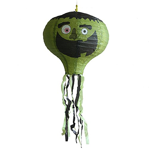 VICKY-HOHO 40CM grün Zombie Faltbare Papier HeißluftBallon Laternen mit vielen Mustern (Kinder Deluxe Green Lantern Kostüm)