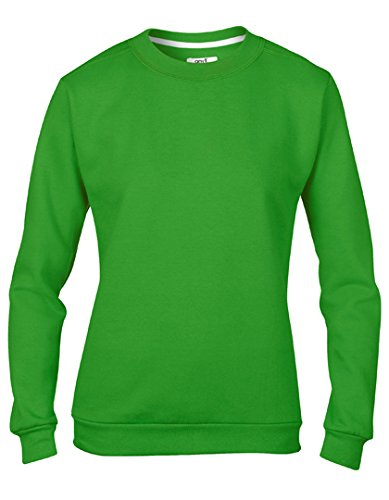 Sweatshirt Pullover Sweater Femme ras du cou Green Apple