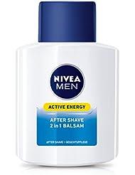 NIVEA Men, 2er Pack 2 in 1 After Shave Balsam und Gesichtspflege für Männer, 2 x 100 ml Flasche, Active Energy