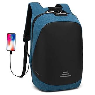 UtoteBag Anti-Theft Backpack Business Laptop Bag with USB Charging Port Multi-Function Outdoor Daypack Travel Rucksack for Men/Women/School