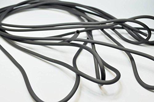 Meterware Kederschnur Ø 5mm Keder Gummi Gummikeder für Fliegengitter Fenster Fliegengittertür schwarz flexibler Rundkeder Grundpreis 1,65 EUR/m