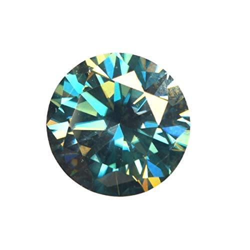 Hochwertiger Moissanite Diamant 1,30 Ct Feinster Rundschnitt Moissanite Egl Certifie Lose Moissanite Grün (Diamant-moissanite Ring)