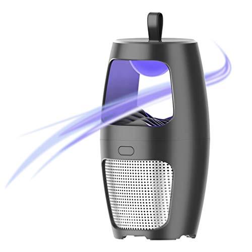 Jamicy® Wiederaufladbar Mosquito Killer Lamp, Moskito Elektrisch, Elektrische Insektenvernichter Mücken & Fliegenfänger Insektenfliege (Schwarz) -