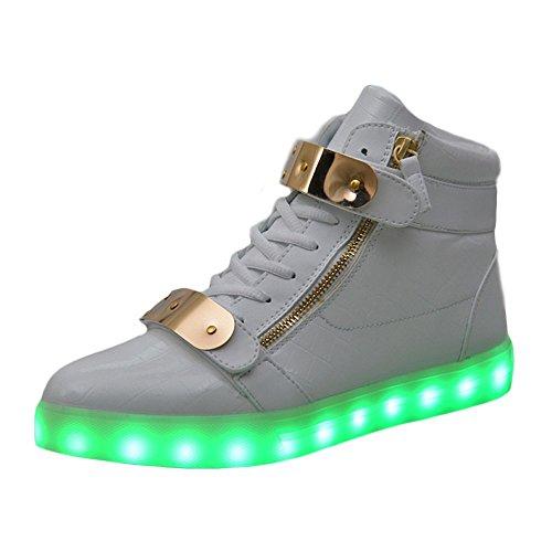 designer fashion 03f75 e37e6 Padgene - Zapatos con luz LED y carga USB, unisex, zapatillas altas  deportivas,