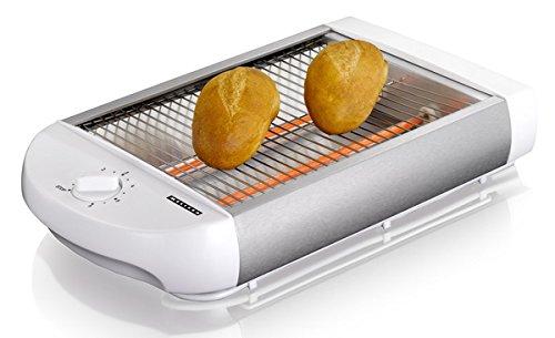 Melissa 600 Watt Flachtoaster - Tischröster mit herausnehmbarer Krümelschublade (weiss)