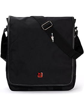 New Bags Umhängetasche Crossover Schultertasche Polyester schwarz OTD208S