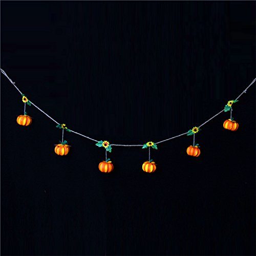 Halloween Hanging Dekoration Prop Home Party Dekorative Hanging String für Outdoor Indoor Festival Dekor (6 Kürbis Puppen)