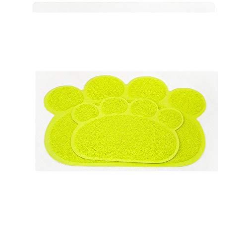 Solid Matte (Katzenstreu Matte,Katzenklo Matte, Katzenstreu Matte Hund Sand Matte Pet Tischset Hund Matte Bodenmatte Solid Color Nette Fußabdruck Pad Decke)