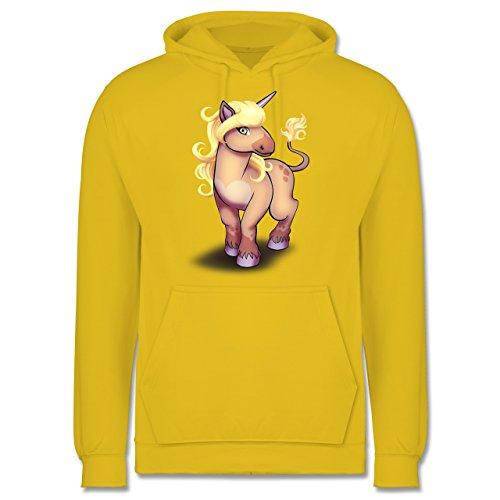 Sonstige Tiere - Einhorn Pony - Männer Premium Kapuzenpullover / Hoodie Gelb