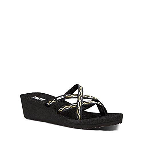 Criss Cross Wedge Sandal (Teva Women's Mush Mandalyn Wedge Ola 2 Sandals (Knot Metalic,10B))