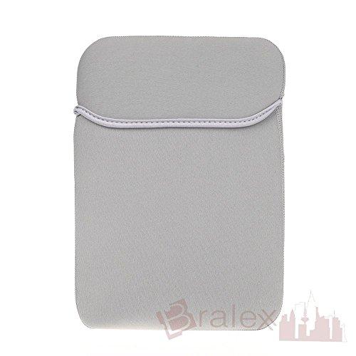 BRALEXX Universal Neopren 10 Zoll Tablet PC Hülle passend für Blaupunkt ENDEAVOUR 1010, Grau
