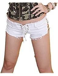 Serré Femmes Vintage Taille Basse Décontractée Ultra Short Danse Tenue De Clubwear