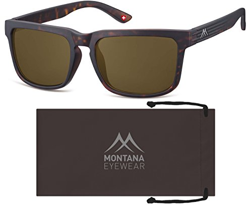 Montana S26, Gafas de Sol Unisex Adulto, Multicoloured (Turtle/Brown Lenses), Talla única