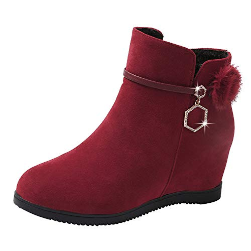 POLP Botas Mujer Botines Mujer Invierno Botas Altas Mujer Botines+Mujer+2018 Botas Flecos Botas Altas cuña Botin Mujer Invierno Botas Zapatos Invierno Mujer cuña