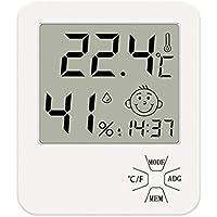 Tiamu Thermomètre/hygromètre/hygromètre/thermomètre à écran HD numérique pour l'intérieur