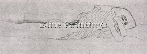 GUSTAV KLIMT STUDY FOR WATER SERPENTS01 ARTISTA QUADRO DIPINTO OLIO TELA DECO 45x120cm alta qualita