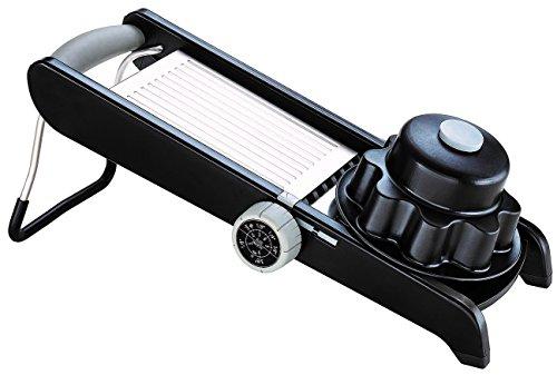 Moha 25208Veggie PRO Mandolina PP/ABS/SBS/TPE/Acciaio Inox Nero 40x 9x 18cm