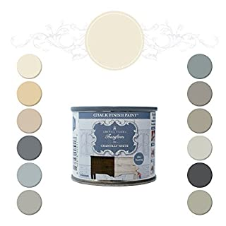 Amitha Verma Chalk Finish Paint, No Prep, One Coat, Fast Drying | DIY Makeover for Cabinets, Furniture & More, 4 Ounce, (Chantilly White) by Amitha Verma