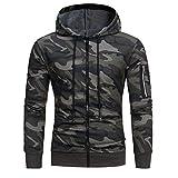 Cooljun Pullover Männer, Herren Camouflage Print Hoodie Kapuzen Sweatshirt Tops Jacke Mantel Outwear
