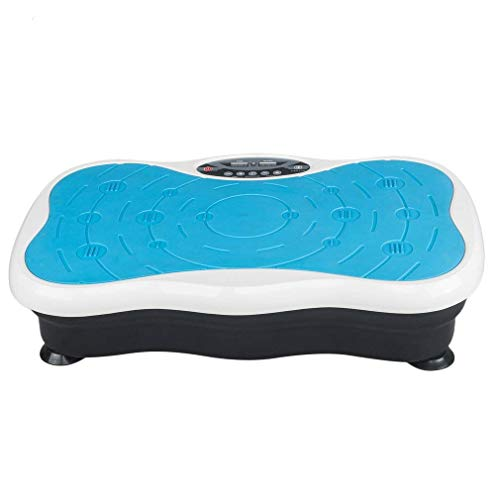 GreatWall 3D Vibrationsplatte Körper Vibrationstrainer Fitness Vibrationsgerät mit Fernbedienung Body Shaper Massage bis 150KG (Blau)