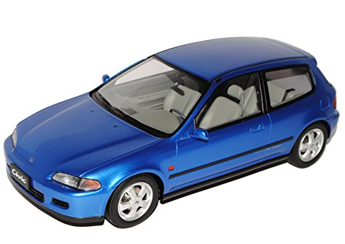 Honda Civic 3 Türer Hatch Blau 5. Generation 1991-1995 limitiert 1 von 300 1/18 Triple 9 Modell Auto (Honda Civic Hatch)