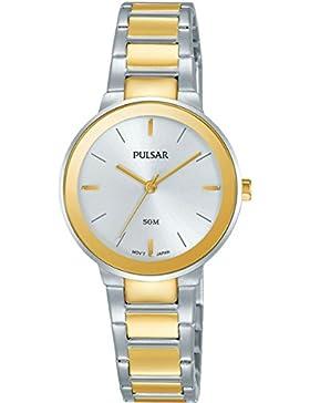 Pulsar Damen-Armbanduhr  Analog Quarz Edelstahl beschichtet PH8284X1