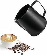 ابريق لصنع رغوة الحليب من ميبرو من الستانلس ستيل مع مقياس متدرج، مناسب للباريستا وللاستخدام في المطبخ والمنزل