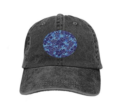 Preisvergleich Produktbild Unisex Baseball Cap Snapback Adult Cowboy Hat Hip Hop Trucker Hat Hibiscus Pineapple i drewing Continues Repeatedly Lov Black