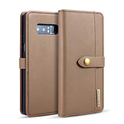 Exquisite Handyhülle aus Leder Pu Leder flip Brieftasche case mit kartenhalter Tasche Telefon Abdeckung für Samsung Note 8 (Color : Brown) - Kartenhalter Telefon-abdeckung