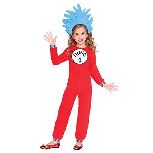 (amscan Dr. Seuss Ding 1 & Ding 2 Jumpsuit Kostüm Kinder Unisex)