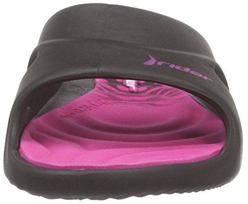 Rider Slide Feet Damen Offene Sandalen Mehrfarbig (black pink 8018)