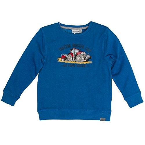SALT AND PEPPER Jungen Sweatshirt Sweat Power Uni Master Cup Blau (Strong Blue Melange 469) 92 (Herstellergröße: 92/98)