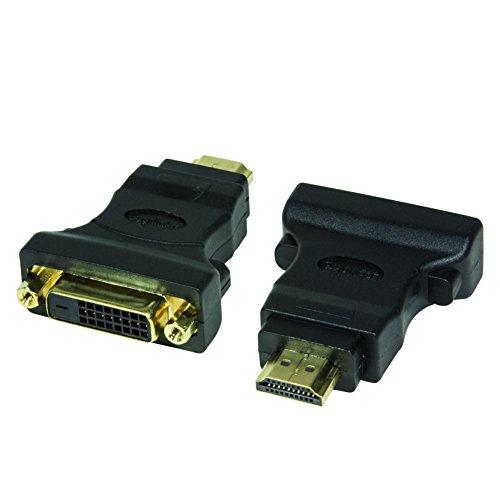 LogiLink DVI-D Adapter Digital (DVI Dual Link Belegung 24+1) zu HDMI, unterstützt alle HDTV und HD ready Standards (Dual-link-dvi-zu-hdmi-adapter)