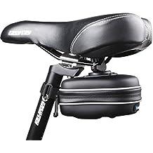 zanasta–Bolsa para sillín bicicleta mountain bike MTB Bicicleta Resistente al agua, con herramientas y 2reflectores, color negro