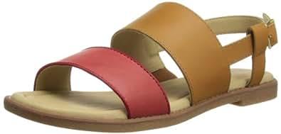 Hush Puppies Caposhi, Women's Sandals, Tan/Red, 3 UK