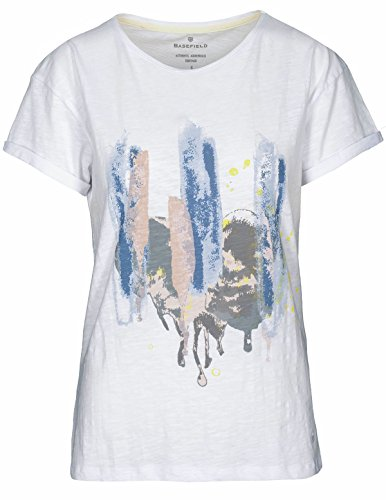 Basefield Damen Printshirt 1/2 Arm - Sweet Blue (229004879) 100 WHITE