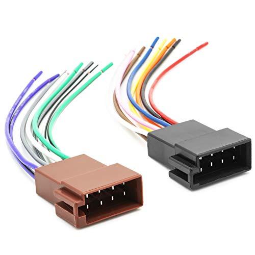Auto Radio Universal Anschluss Adapter Kabel DIN ISO Buchse Strom Lautsprecher