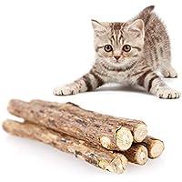 AITOCO 20 Palitos Catnip, Gatera De Matatabi para Gatos Natural Cuidado Dental Chew Catnip Sticks para Dientes Diámetro