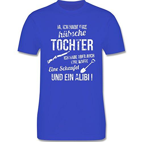 Vatertag - Ich habe eine hübsche Tochter - Herren Premium T-Shirt Royalblau