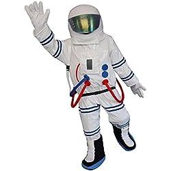 Happy Shop - Disfraz de Astronauta Espacial para Hombre Adulto, Disfraz de Halloween
