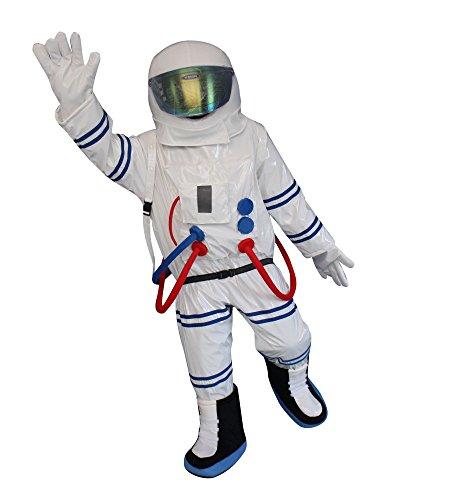 aut Astronaut Space Man Erwachsene Halloween Maskottchen Kostüm Kleid Outfit (Astronauten Outfits)