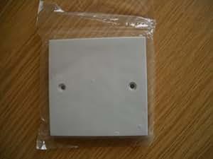 Plaque Prise Électrique Blanc Pour Une Prise (1G)