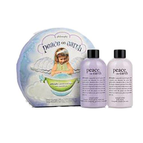 Preisvergleich Produktbild Philosophie Peace on Earth 2-teiliges Geschenk Set IX Shampoo, Duschgel & Schaumbad 240ml 1x Tranquil orcid Body Lotion 240ml