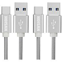 HOISAN Cable USB Tipo C Carga Rapida 2-Pack 1M Cable USB C Metálico Carga y Transmisión de Datos para Samsung Galaxy S9 /S8 Plus /S8 /LG V20 G5 G6 /HTC U11 10 /Huawei P10 P9 Mate 10 y más