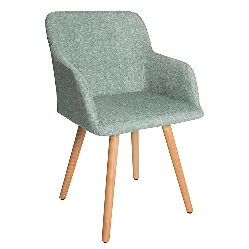 Design Stuhl lime SCANDINAVIA MEISTERSTÜCK Buche Gestell mint grün mit Armlehne im Retro Trend Esszimmerstuhl Esszimmer -