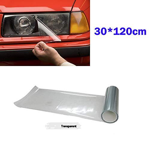 LIOOBO Auto Licht Aufkleber Rauch Nebelscheinwerfer Scheinwerfer Rücklicht Seitenmarkierung Vinylfolie Blatt (Transparent)