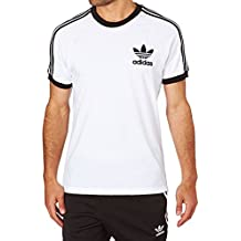 adidas CLFN Tee Camiseta para Hombre, Blanco (Blanco / Negro), L