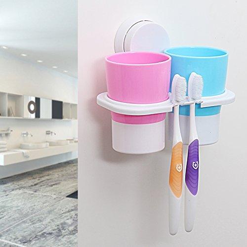 KPHY-- wand zahnbürste inhaber kreativen waschen, mundwasser cup, putz die zähne, wasch - (Die Zähne Hölzernen)