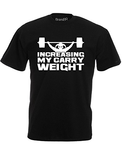 Brand88 - Brand88 - Increasing My Carry Weight, Mann Gedruckt T-Shirt Schwarz/Weiß